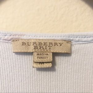 Burberry Tops - Burberry check cuff t shirt